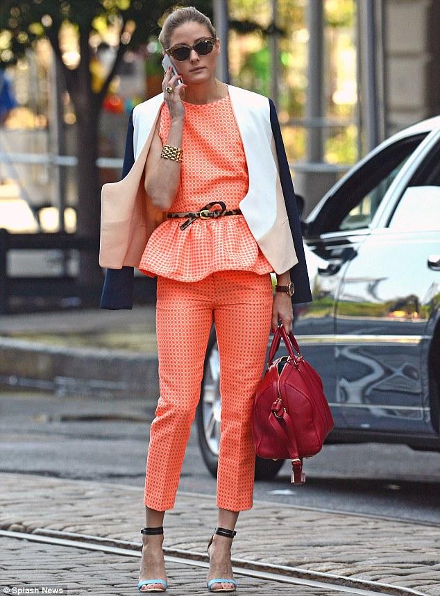 Orange pant suit