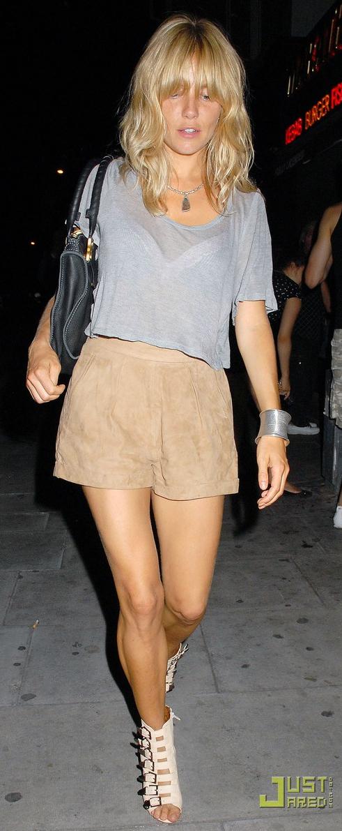 Beige suede shorts