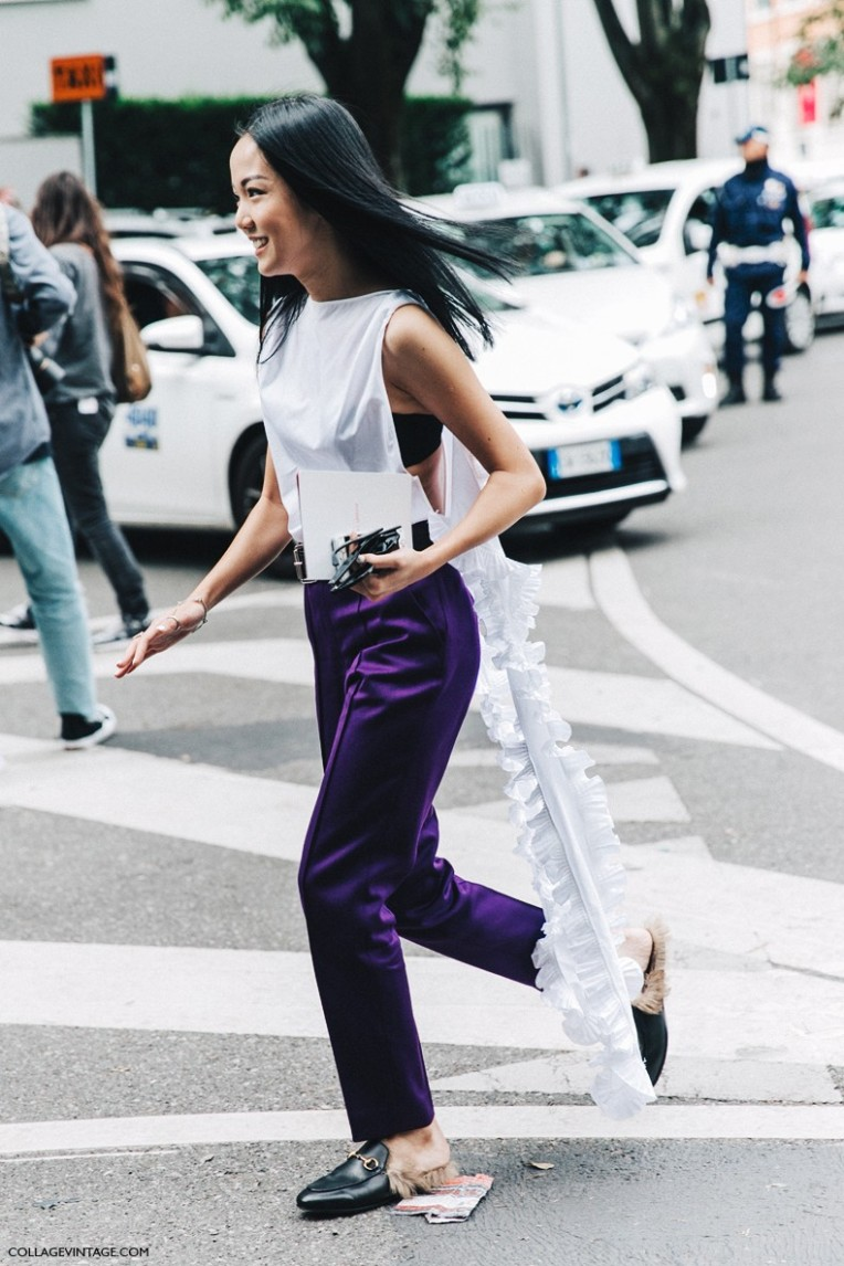 MFW-Milan_Fashion_Week-Spring_Summer_2016-Street_Style-Say_Cheese-Yoyo_Cao-Gucci_Loafers-7-790x1185